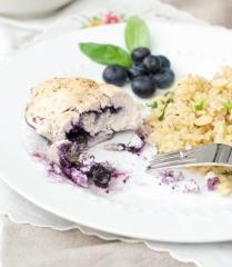 Голубика в десерте