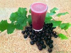 Виноград синий Regent использование в виде сока