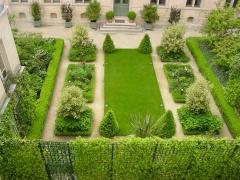 Самшит в регулярном дизайне маленького сада