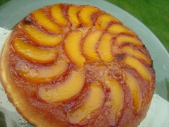 Peach domestica Collins в выпечке